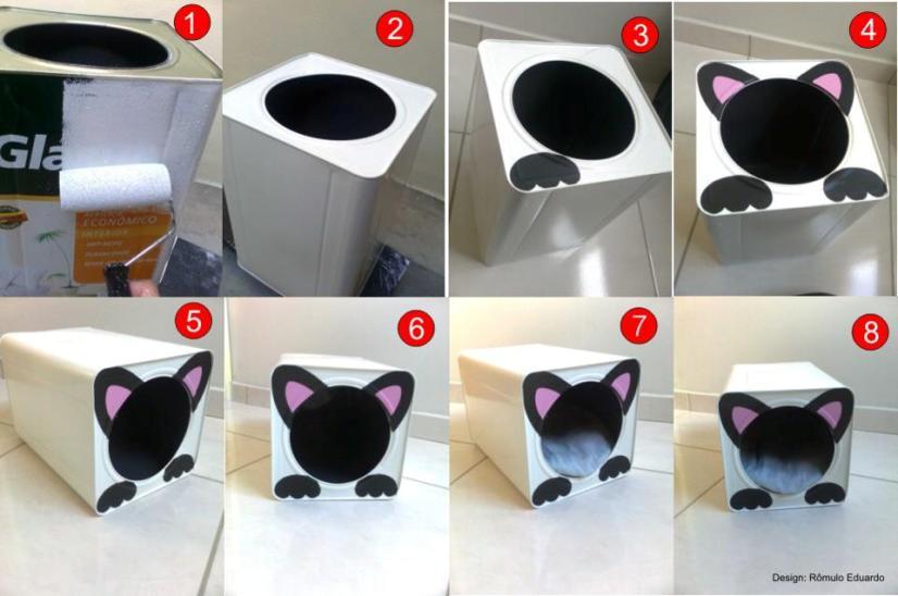Saiba como fazer uma casinha para gato com materiais - Casa para gato ...