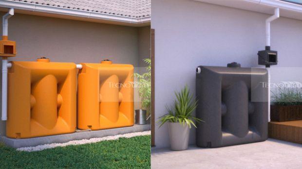 Cisterna vertical cabe em uma sacada e armazena até mil litros de água