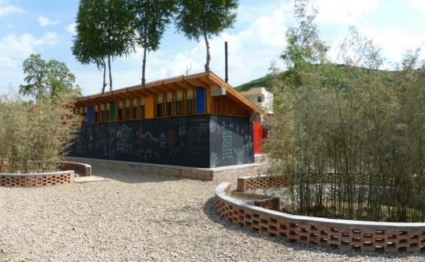 Banheiro sustentável fornece saneamento para 700 crianças na China