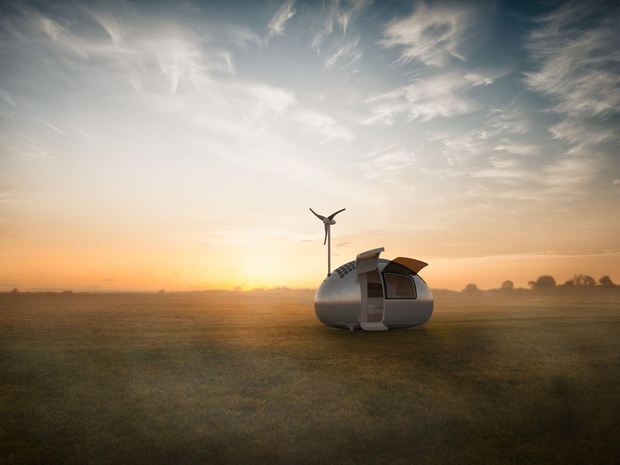 Casa-móvel produz sua própria energia e pode ir para qualquer lugar do mundo