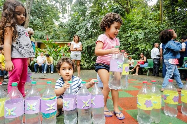 As crianças se divertiram na inauguração. | Foto: Andréa Rêgo Barros/ PCR