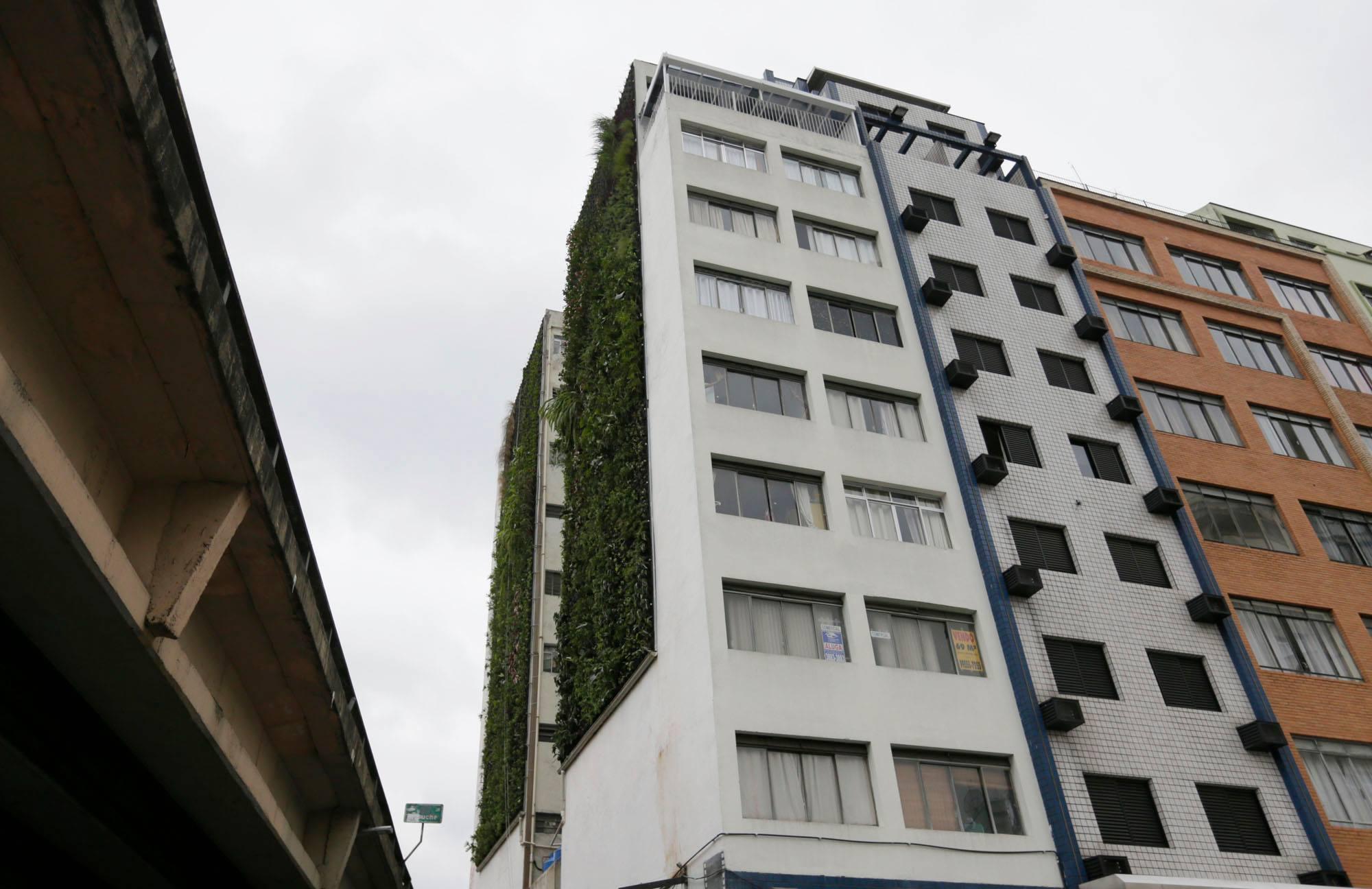 Minhocão ganhará 40 jardins verticais