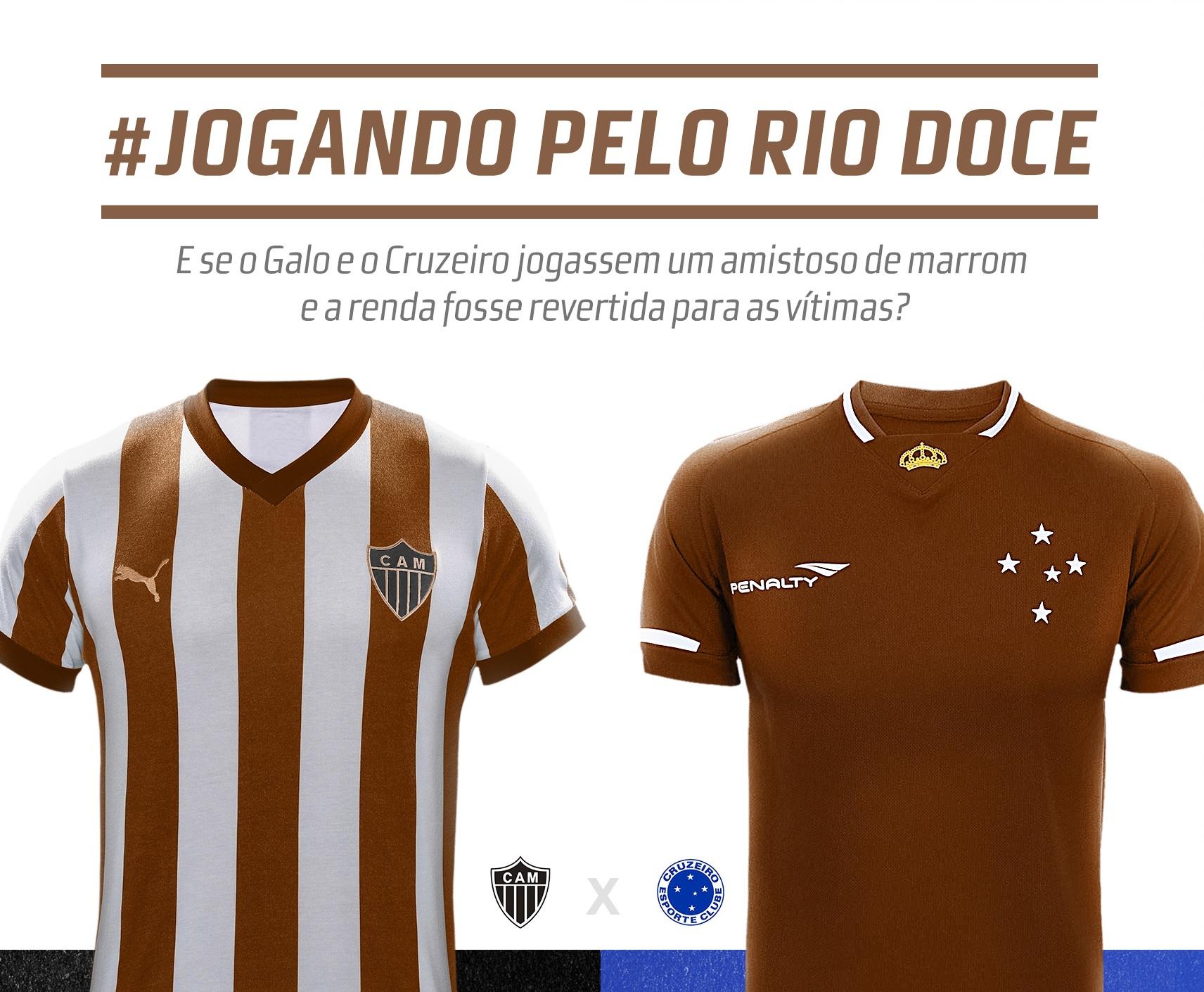 Movimento pede jogo beneficente entre Atlético e Cruzeiro pelas vítimas de Mariana