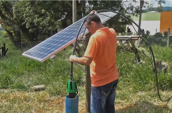 Captador de água movido a energia solar é alternativa para produção rural