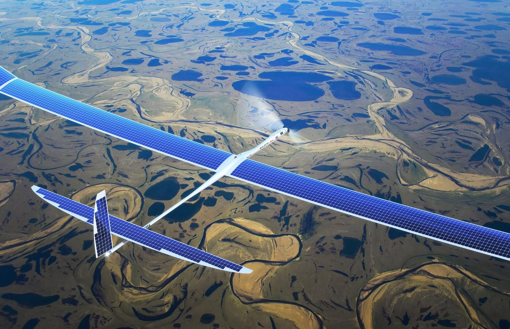 Google usa drones solares para disseminar internet 40x mais rápida