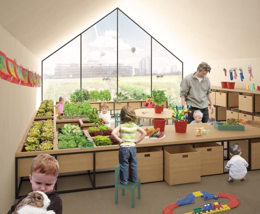 Escritório italiano planeja pré-escola que funciona como fazenda urbana