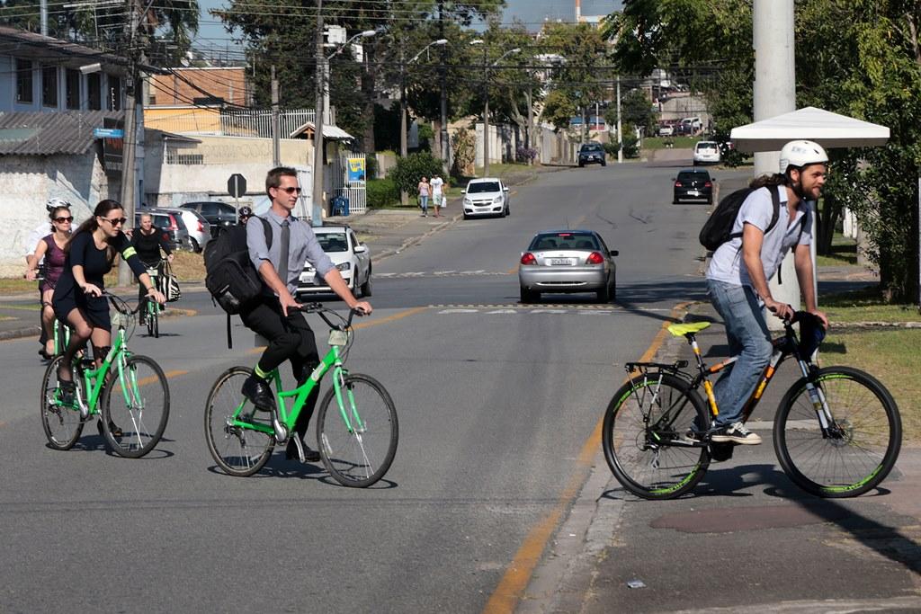 Holandeses chegam em Curitiba para nova fase do acordo de ciclomobilidade. Curitiba, 06/04/2016 -  Foto: Valdecir Galor/SMCS