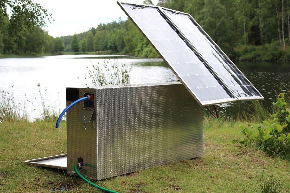 Suecos criam máquina solar capaz de purificar 600 litros de água/hora