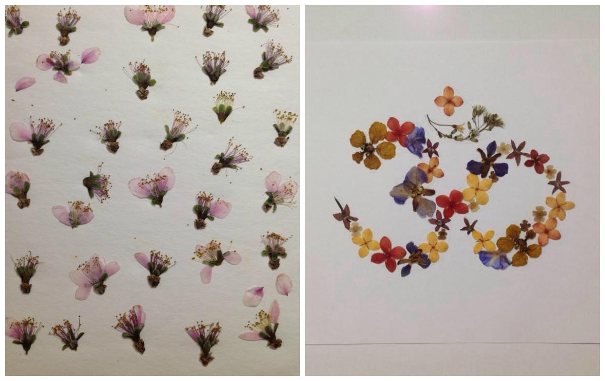 Artista brasileira usa flores para transformar acessórios simples em obras-de-arte
