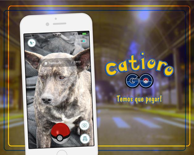 """Campanha convida pessoas a """"capturar"""" cães abandonados ao invés de pokémons"""