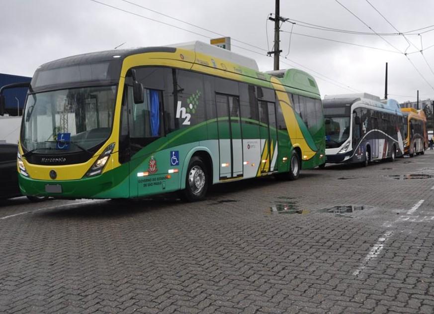 SP tem ônibus que emitem vapor de água no lugar de CO2