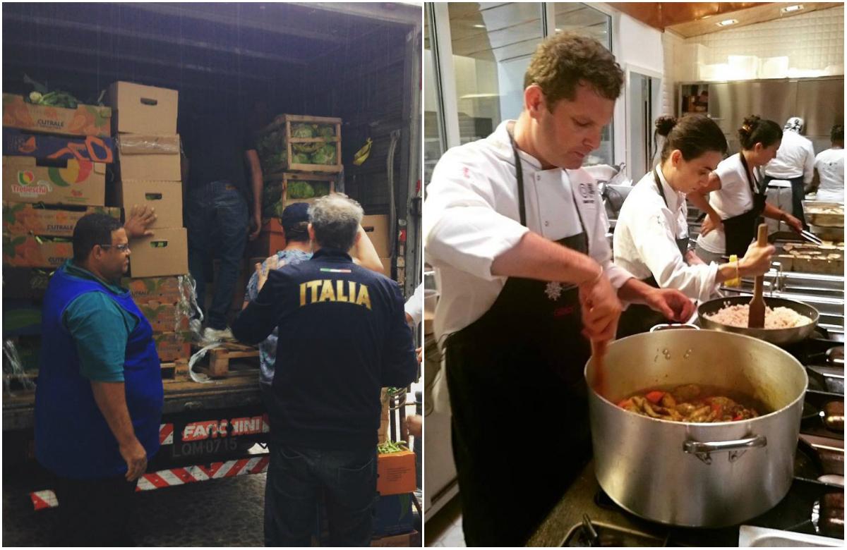 Chefs transformam excedentes da Olimpíada em refeições para moradores de rua