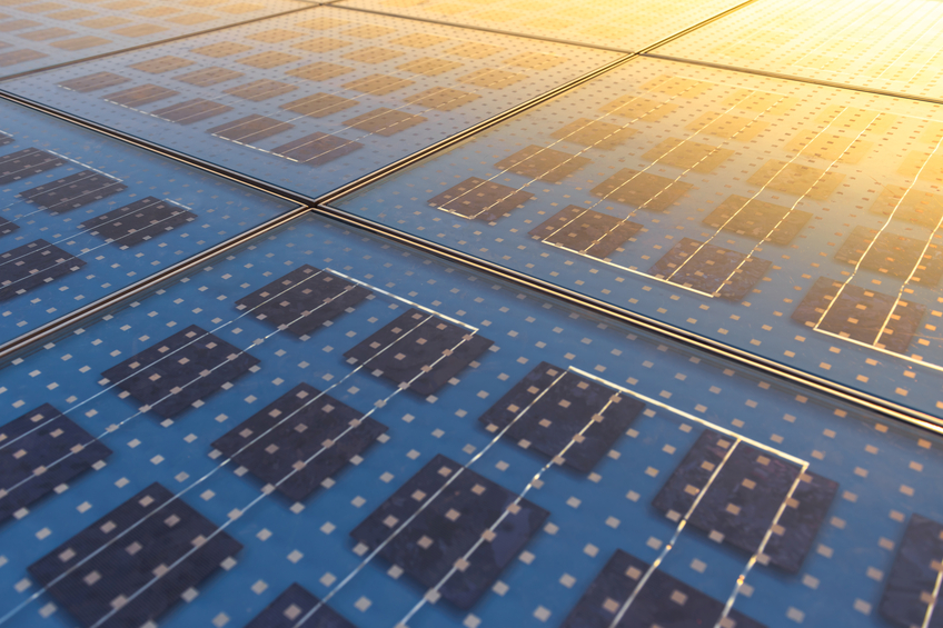 Photo of Solar Panel Texture close up