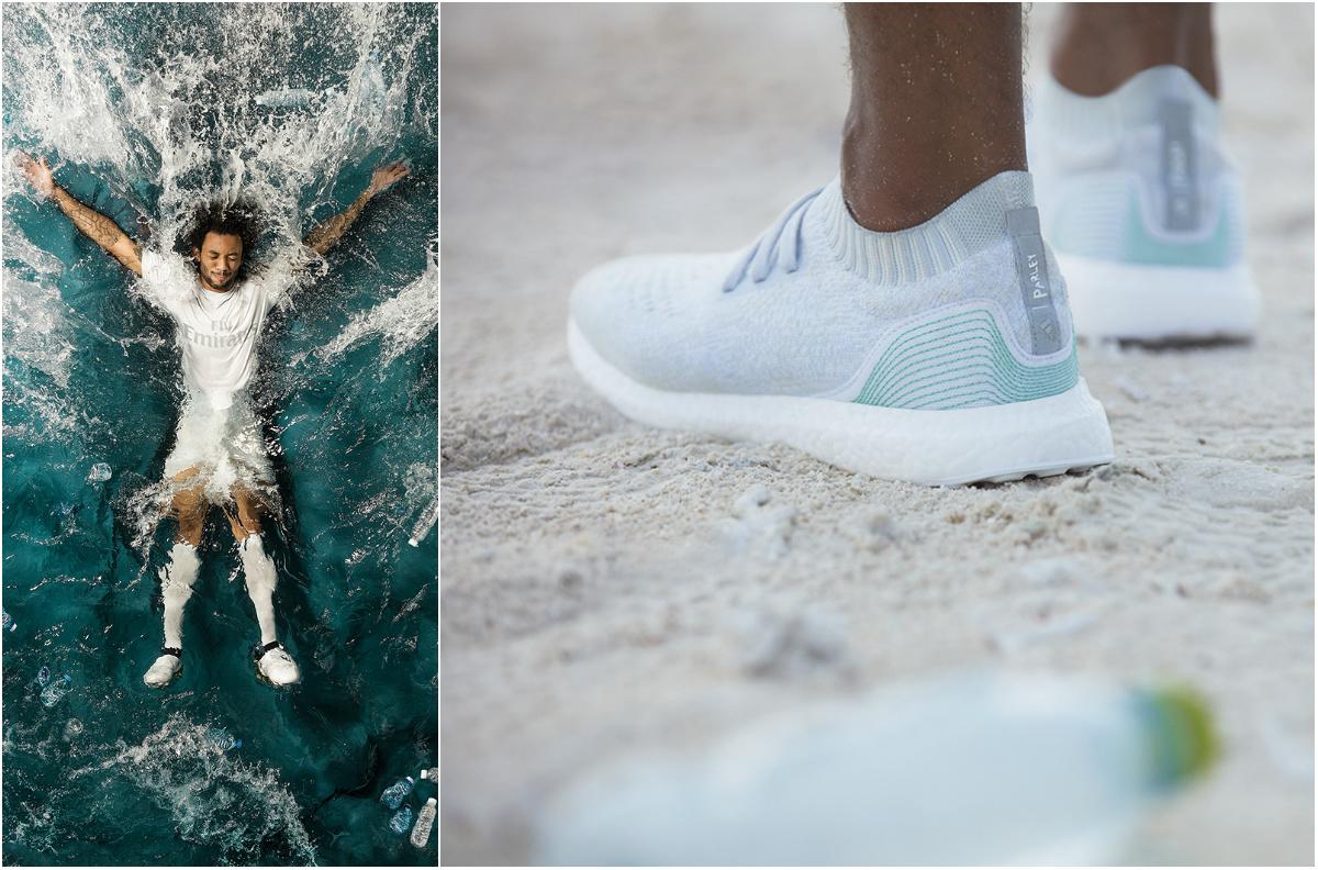 Adidas anuncia novo tênis e camisas de time feitos de plástico dos oceanos