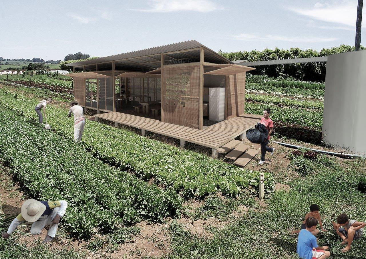 Projeto brasileiro de abrigo sustentável para pequenos produtores ganha prêmio na Itália