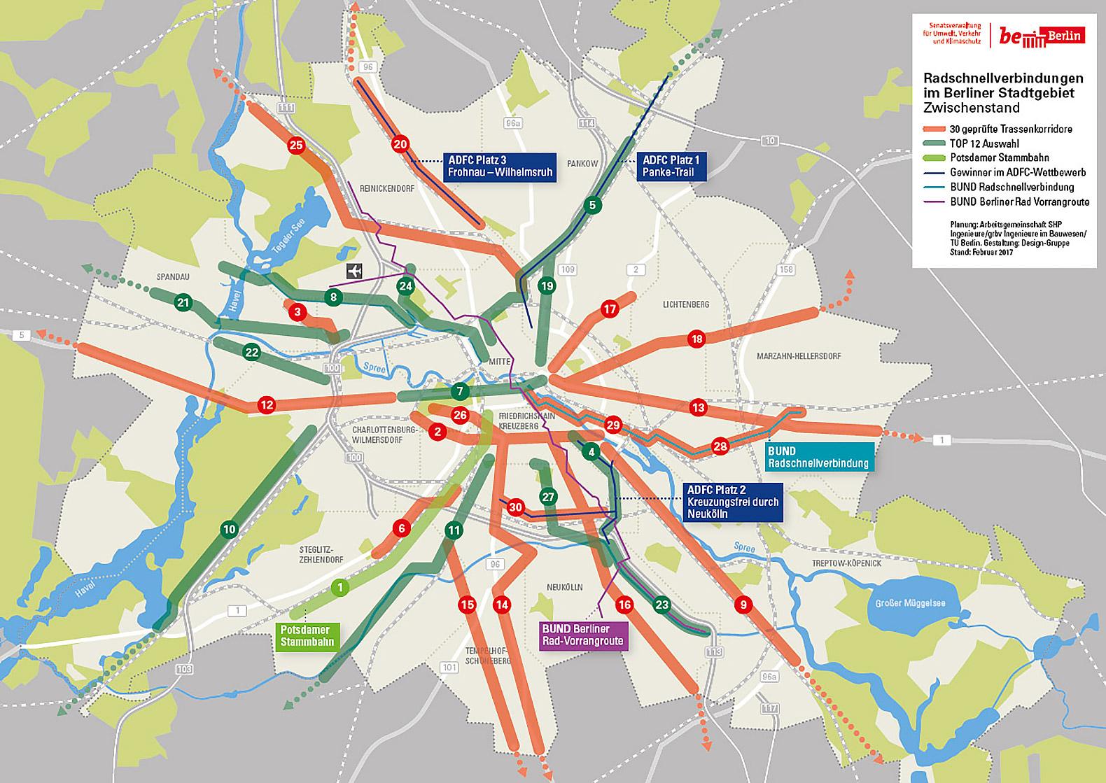 Berlim irá construir super-ciclovias que ligam o centro aos subúrbios da cidade