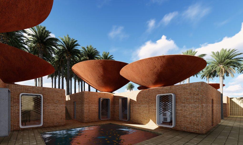 Edifícios para ambientes áridos captam água da chuva e promovem resfriamento natural