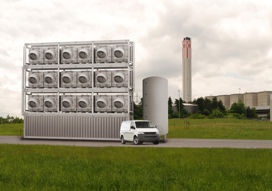 Empresa suíça irá aspirar o CO2 do ar e usá-lo para produzir hortaliças