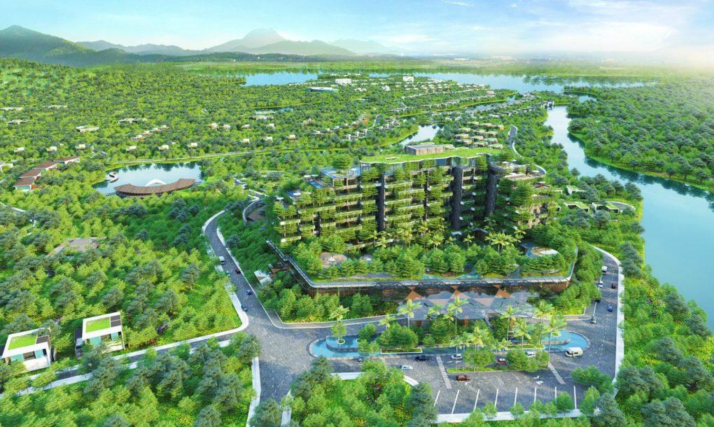 Complexo residencial é coberto com 50 mil árvores no Vietnã