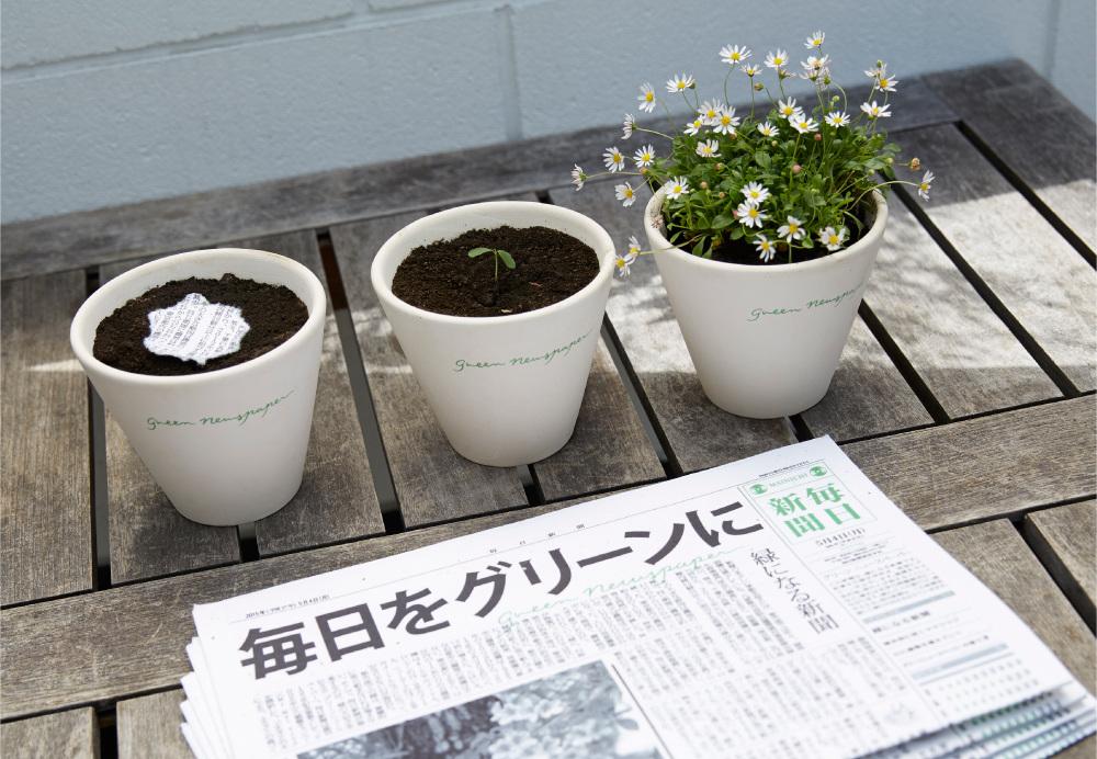 Conheça o jornal japonês que vira planta após ser descartado na terra