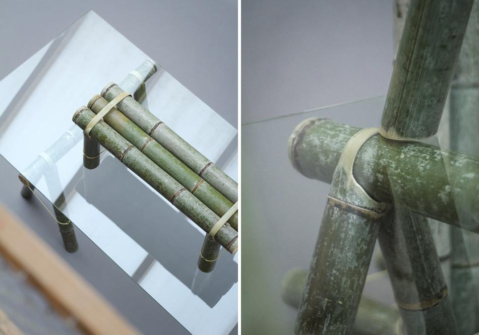 Designer usa bambu para criar móveis simples e funcionais