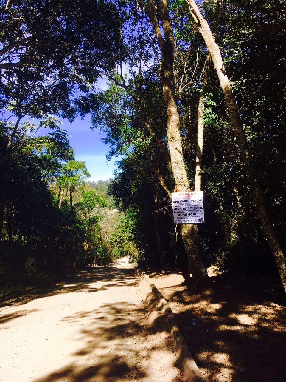 placa no bairro Capuava