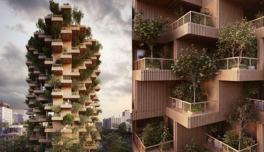 Usando madeiras e plantas, floresta vertical será construída em Toronto