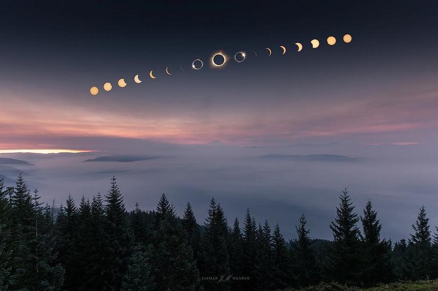 10 fotos impressionantes do eclipse solar
