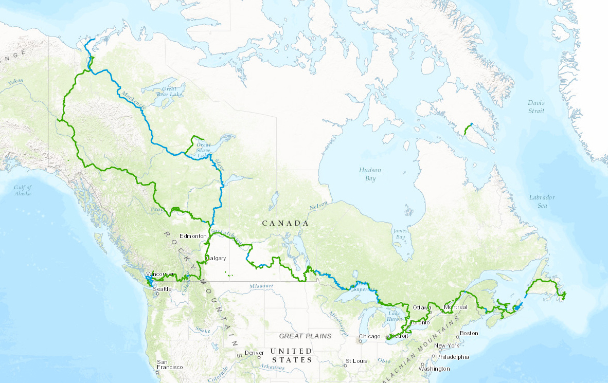Canadá inaugura maior trilha do mundo com 24 mil km