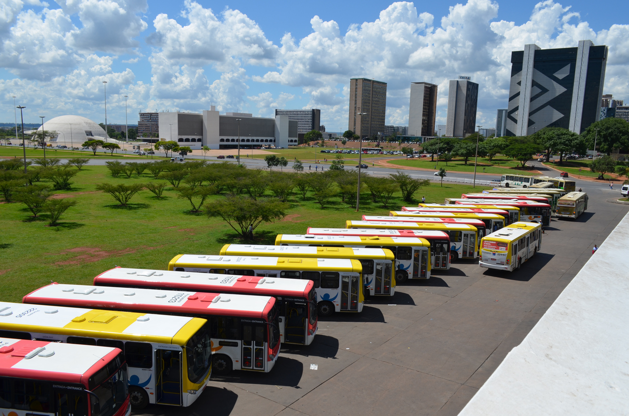 Brasilia, Brazil: Buses at the Central Station
