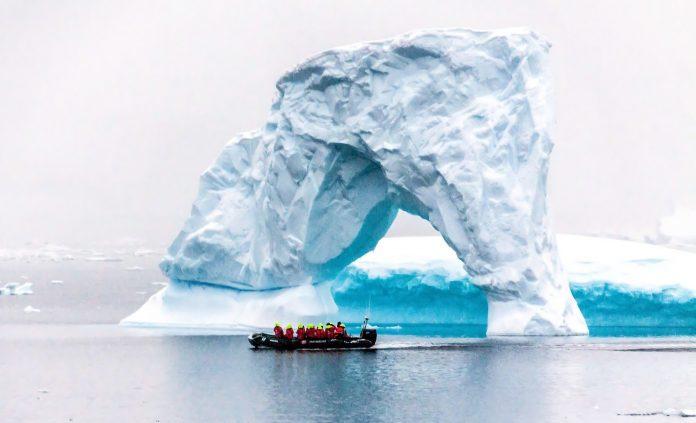 Geleira na Antártida