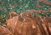 Foto aérea desmatamento
