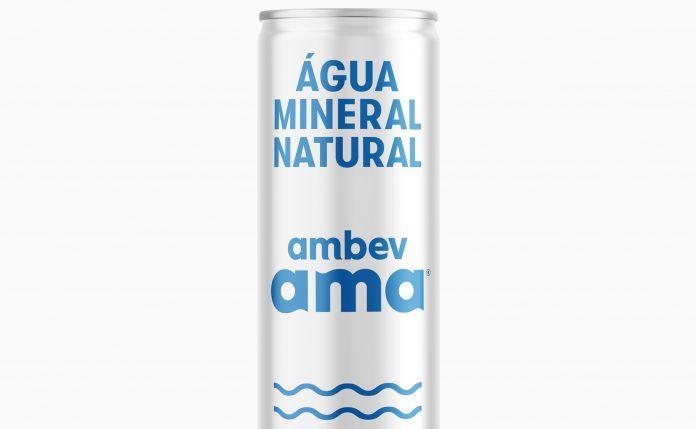latinha de alumínio da água AMA