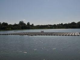 usina solar flutuante