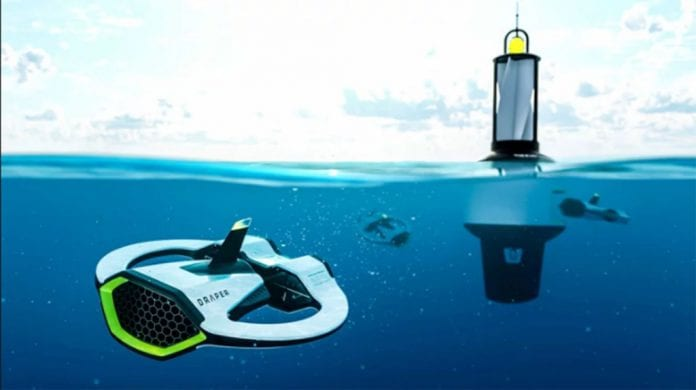 drones poluição marinha