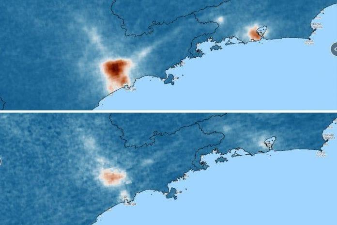 índices de poluição do ar