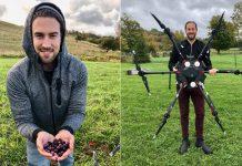 drones plantam arvores