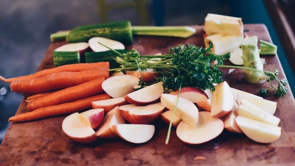 microplásticos frutas vegetais