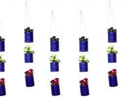 jardim vertical latas de aço