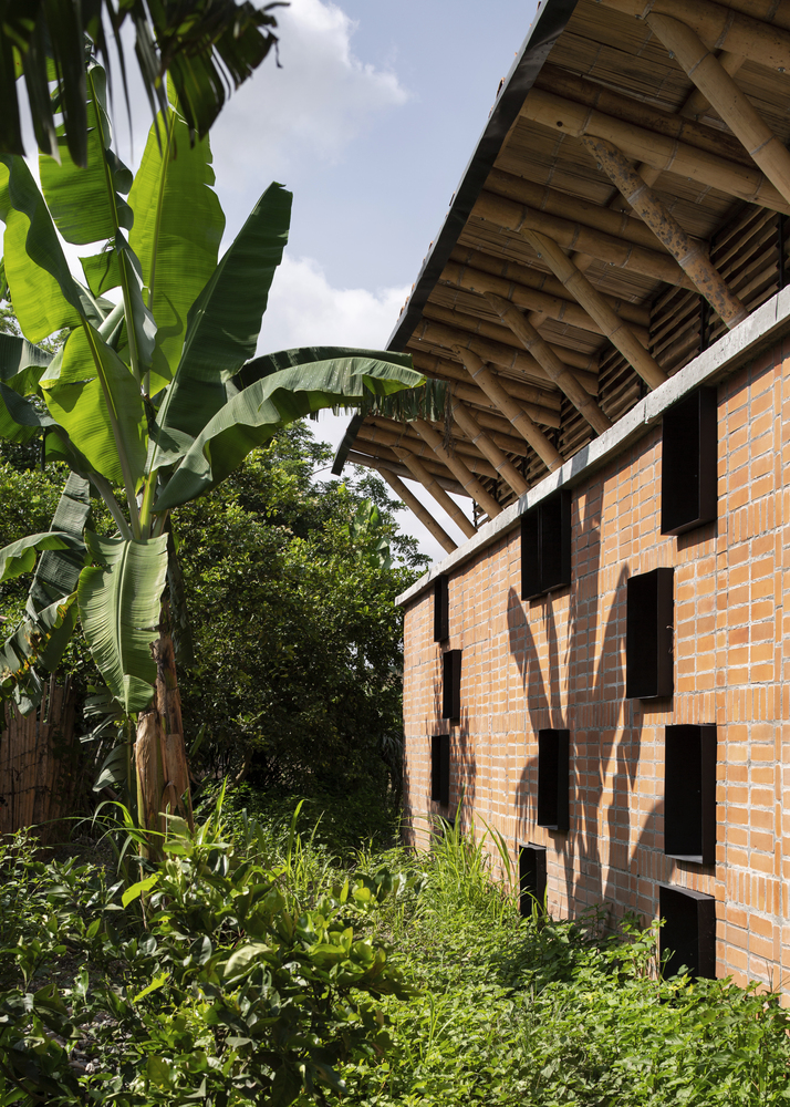 construção com bambu