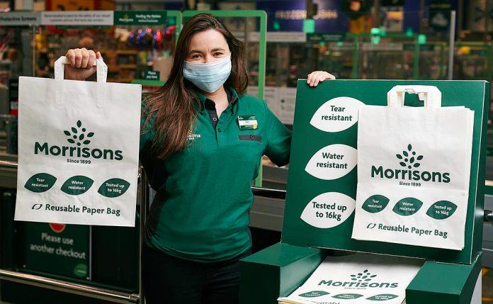 Morrison sacolas de papel Inglaterra