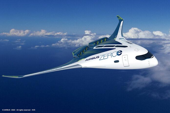 conceitos aribus avião zero carbono