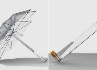 guarda-chuva capta agua