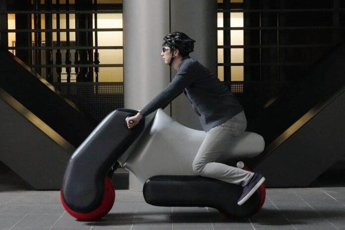 scooter elétrica inflável