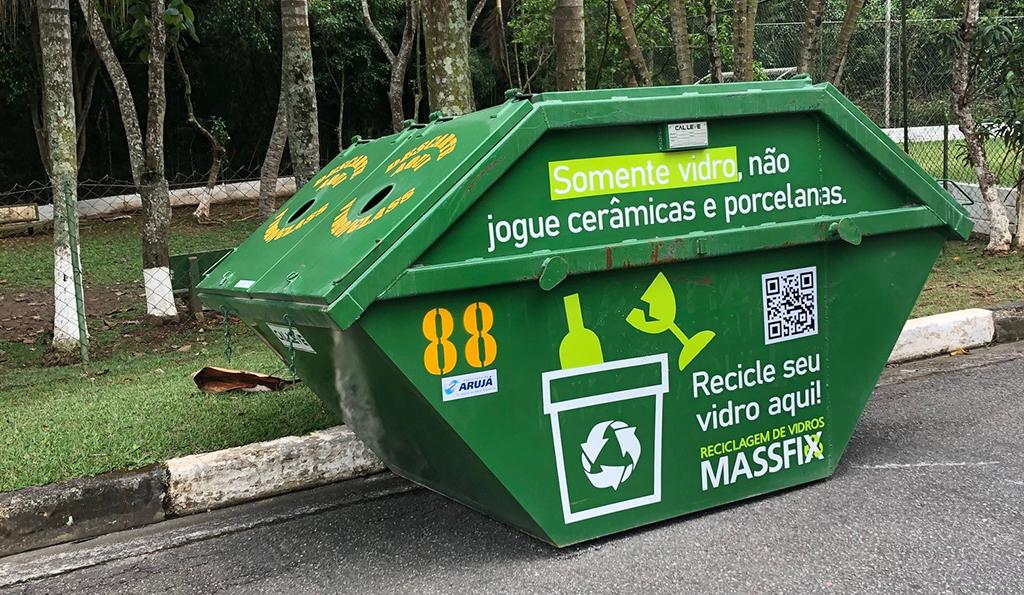 descarte reciclagem vidro