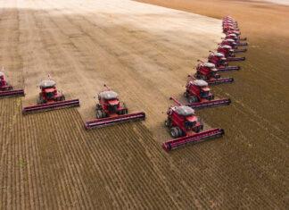 Colheita de soja em Mato Grosso, Brasil