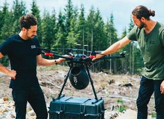 drones plantar árvores Flash Forest