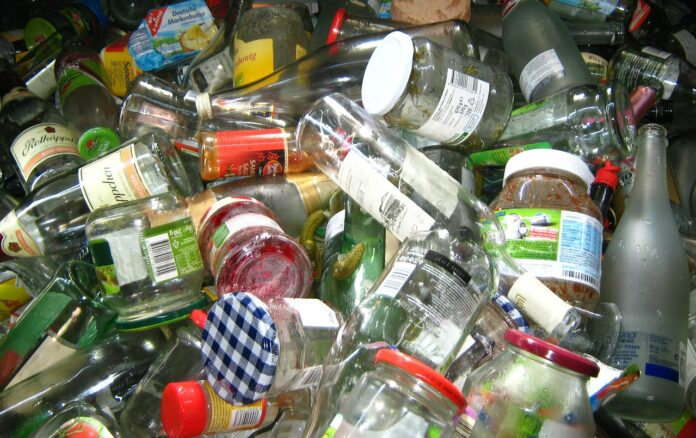 descarte de vidro reciclagem
