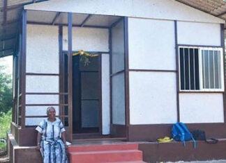 casa plástico reciclado Índia