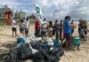 mutirão de limpeza de praias